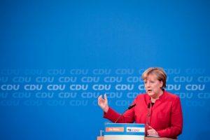 La canciller alemana Angela Merkel durante una conferencia de prensa el 20 de noviembre de 2016 en Berlín Foto:Tobias Schwarz/afp.com