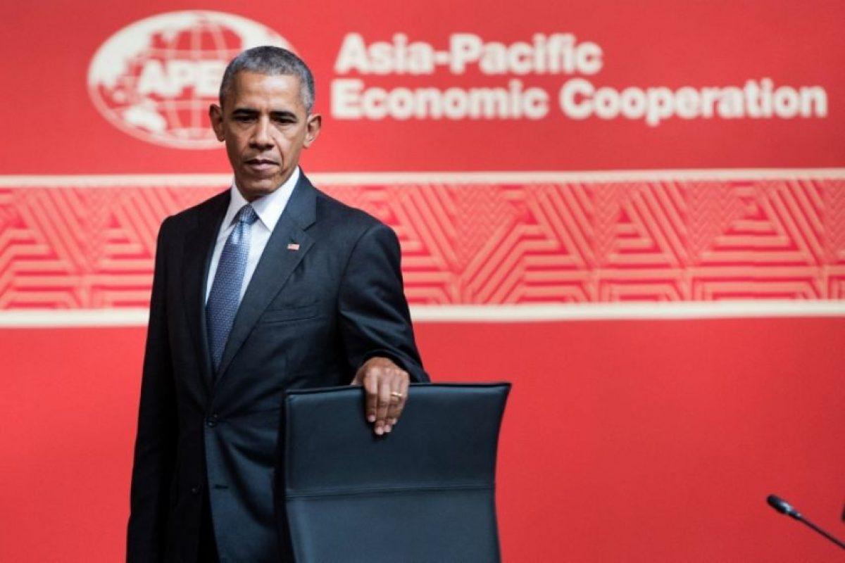 El presidente de Estados Unidos Barack Obama durante la cumbre de APEC el 20 de noviembre de 2016 en Lima Foto:Brendan Smialowski/afp.com