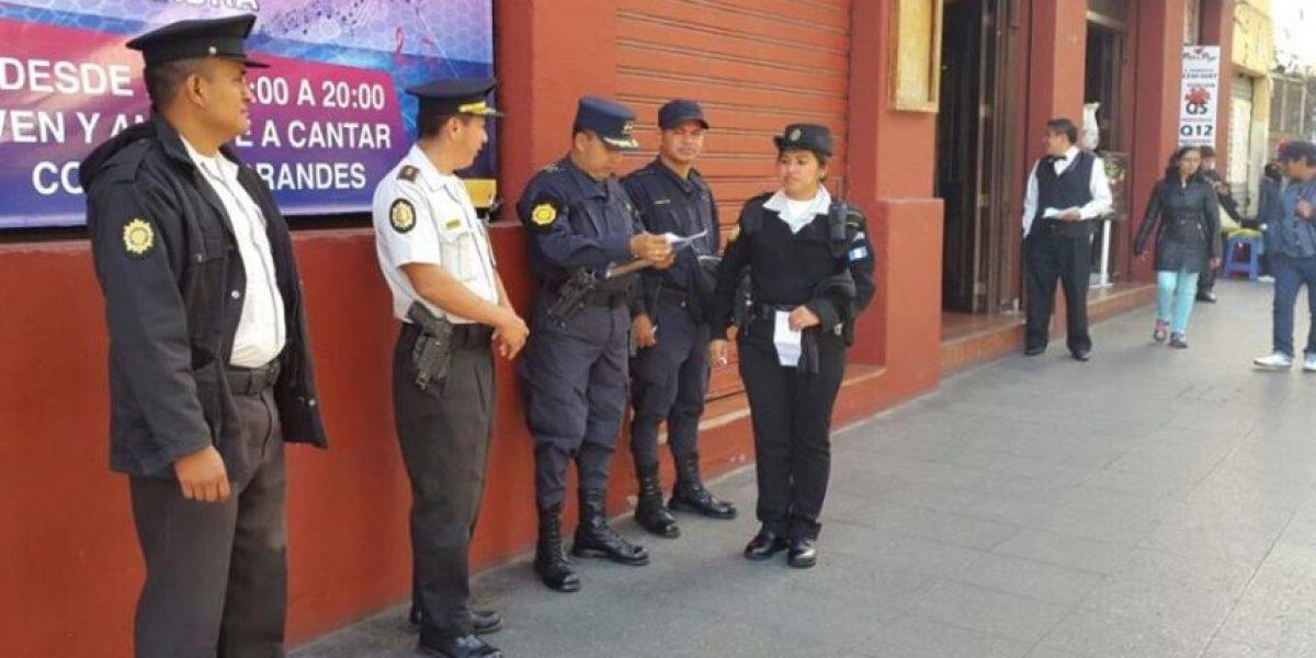 PNC mantiene presencia policial en el Paseo de la Sexta