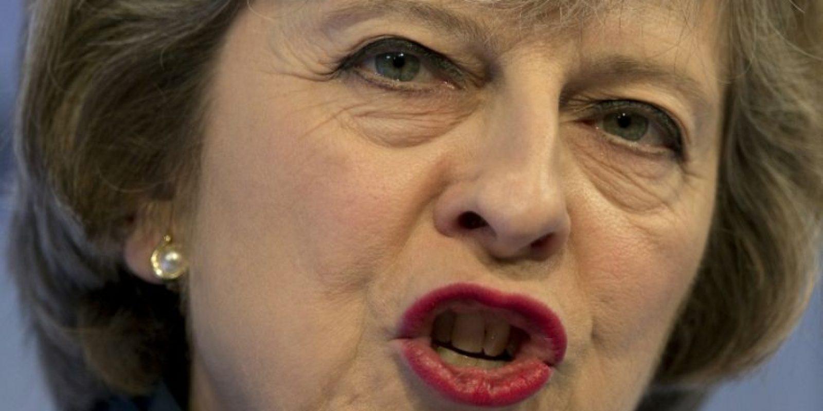 La primera ministra británica, Theresa May, en una conferencia en el centro de Londres, el 21 de noviembre de 2016 Foto:Justin Tallis/afp.com
