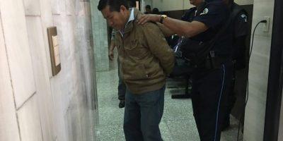 Calachij Riz antes de ingresar al Tribunal. Foto:Kenneth Monzón