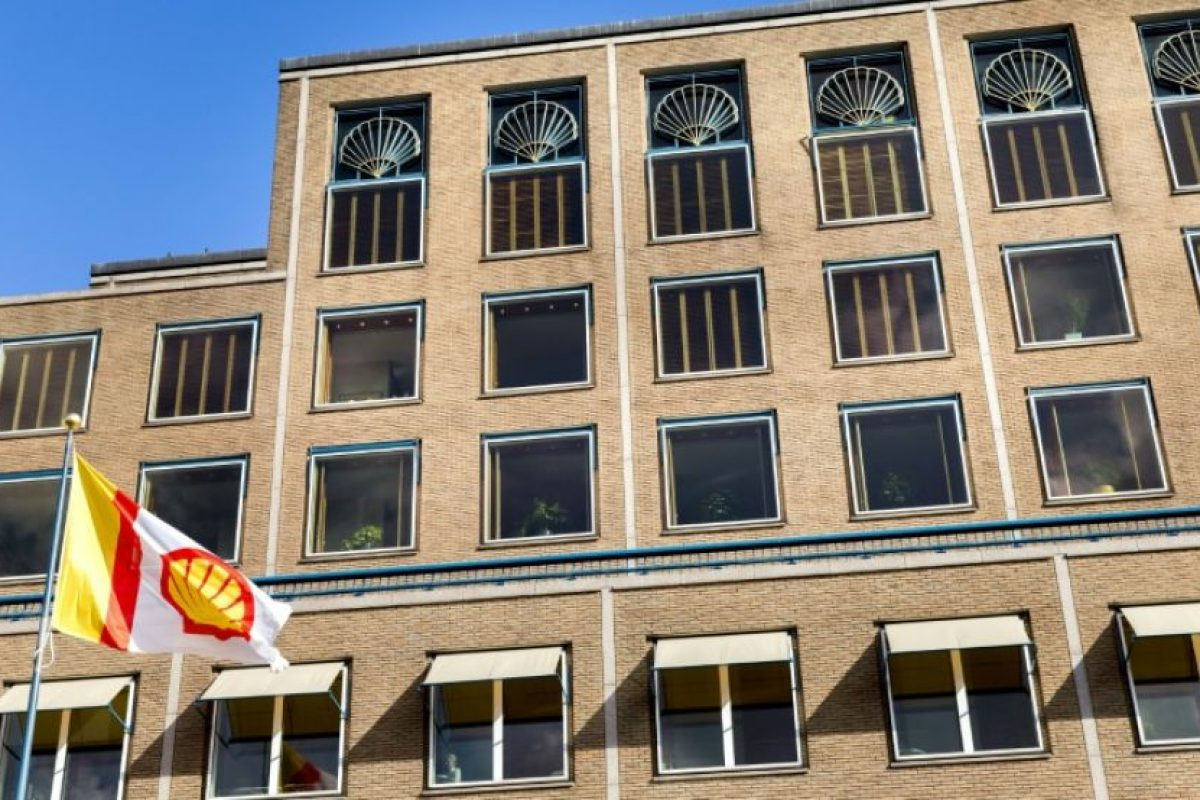 La oficina central de la Real Compañía Neerlandesa Shell, una de las más importantes del sector petrolero, en la Haya, el 22 de noviembre de 2016 Foto:Jerry Lampen/afp.com