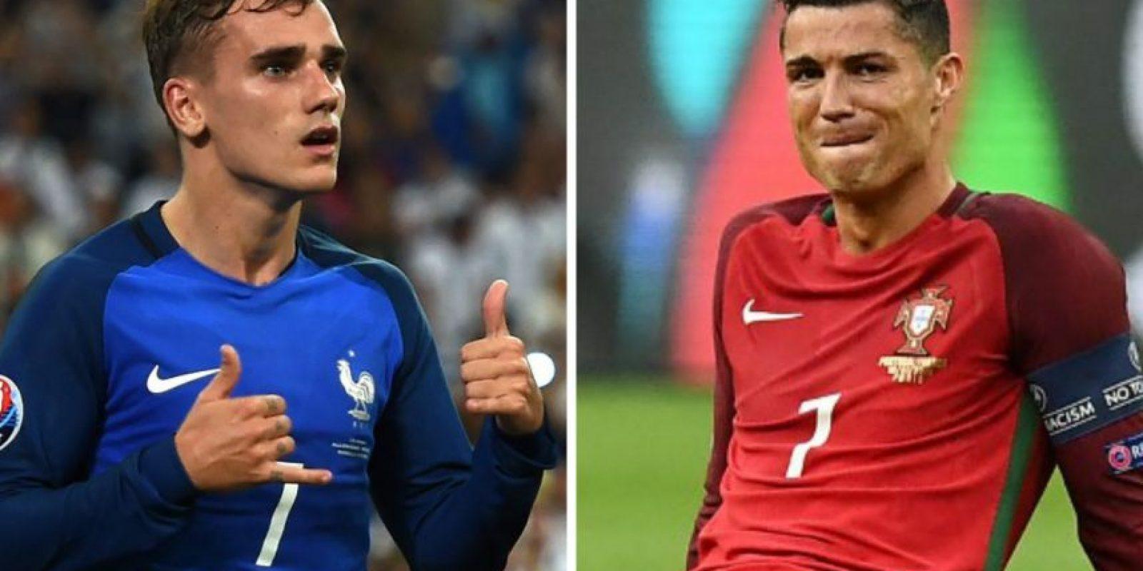 Griezmann le dedicó un par de palabras a Cristiano después de la final. Foto:AFP / AFP