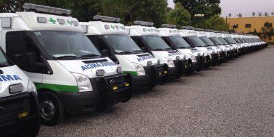 50 ambulancias por Q880 mil cada una. Foto:Cortesía