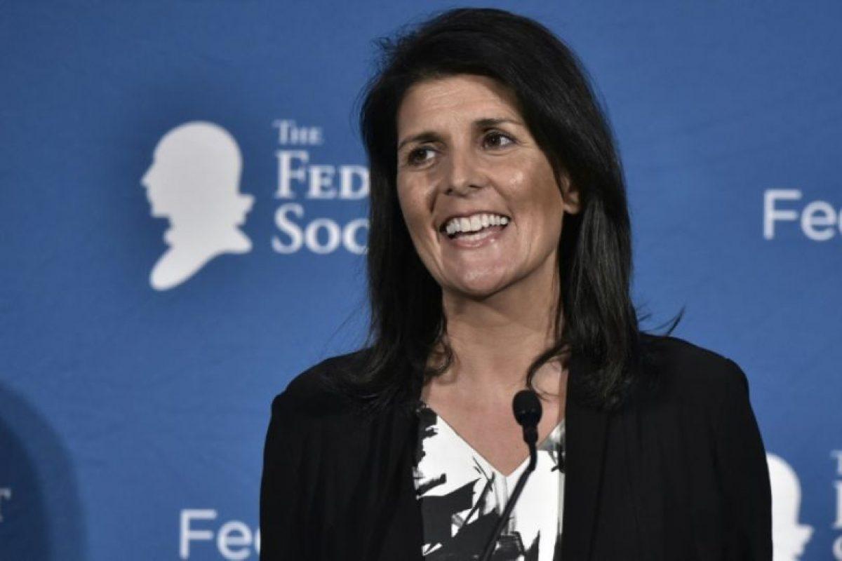 La gobernadora Nikki Haley sonríe durante su intervención en un acto público el pasado 18 de noviembre en Washington Foto:Mandel Ngan/afp.com