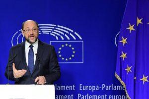 El presidente del Parlamento Europeo, Martin Schulz, anuncia en un discurso que no se presentará a un tercer mandato en la institución europea para concurrir a los comicios alemanes el próximo año, el 24 de noviembre de 2016, en Bruselas Foto:Emmanuel Dunand/afp.com