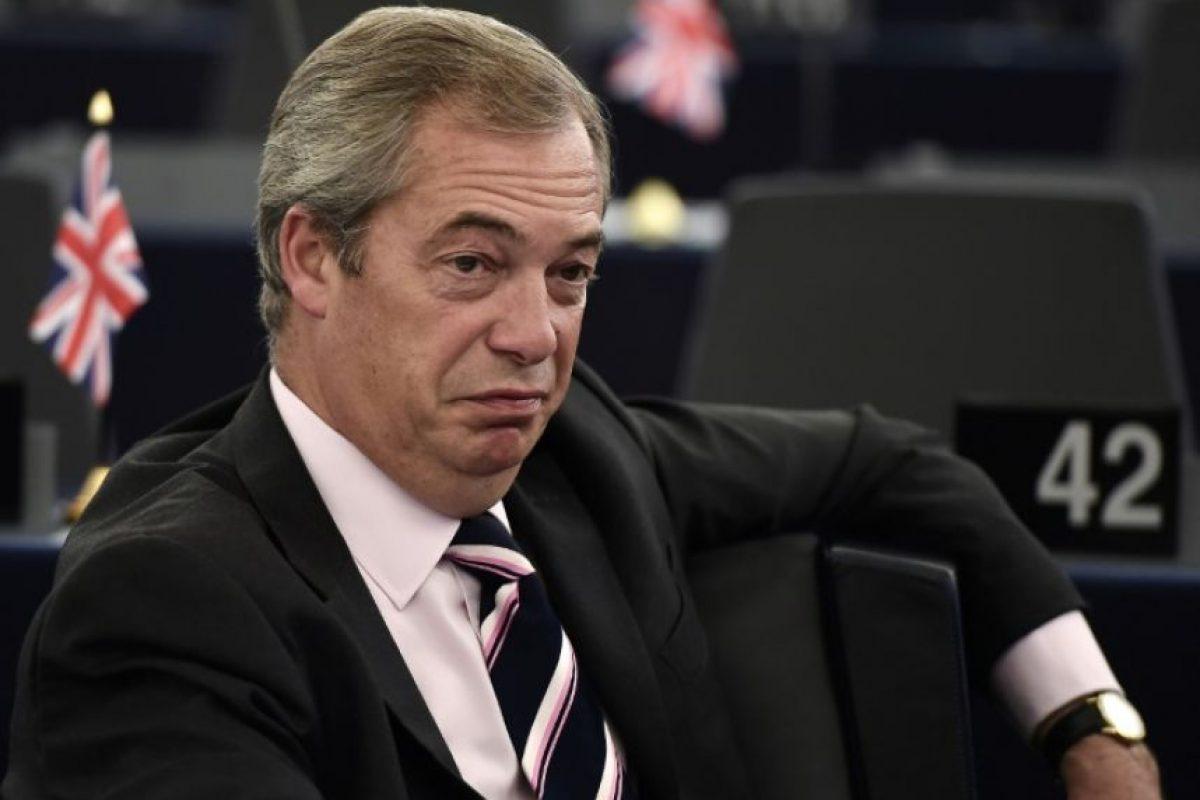 El líder interino del UKIP, el partido eurófobo británico, Nigel Farage, el 26 de octubre de 2016 en un debate en el Parlamento Europeo, en Estrasburgo Foto:Frederick Florin/afp.com