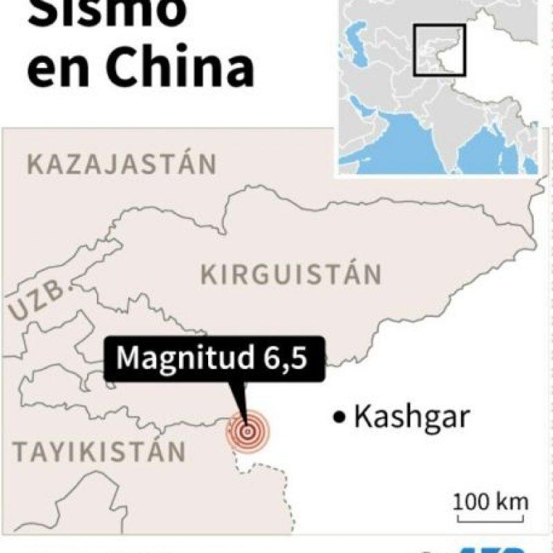 Localización del terremoto en China Foto:Simon MALFATTO, Paz PIZARRO/afp.com