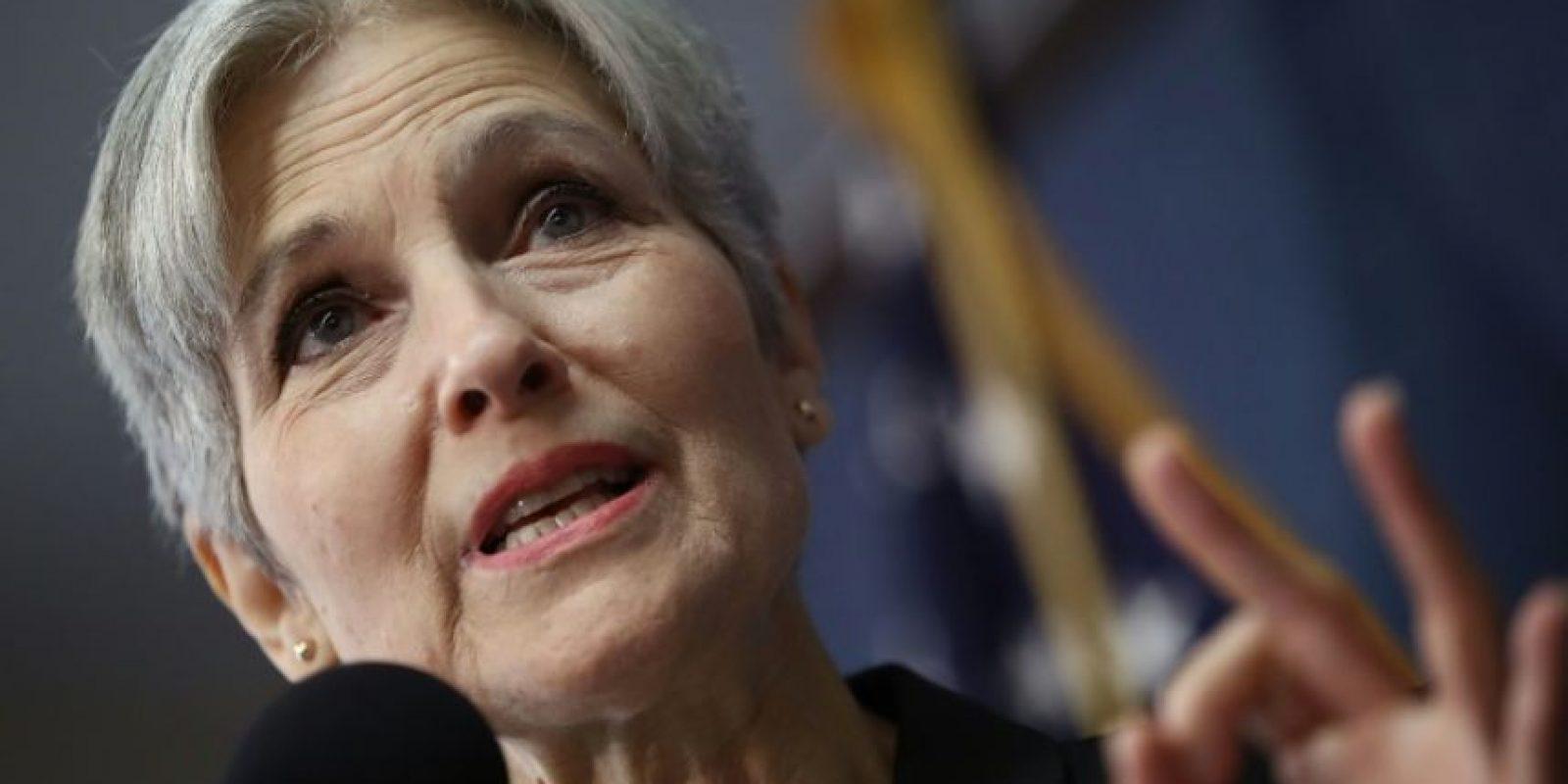 La excandidata presidencial del partido ecologista, Jill Stein, durante una conferencia de prensa en el Club Nacional de la Prensa, en Washington DC, el 23 de agosto de 2016 Foto:Win McNamee/afp.com
