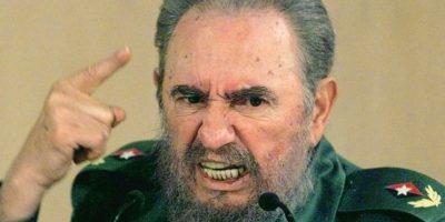 Fidel Castro habla con gesto enardecido el 4 de septiembre del año 1999 en La Habana, durante un discurso en el que pedía al Comité Olímpico Internacional una investigación sobre el trato a algunos atletas cubanos Foto:Adalberto Roque/afp.com