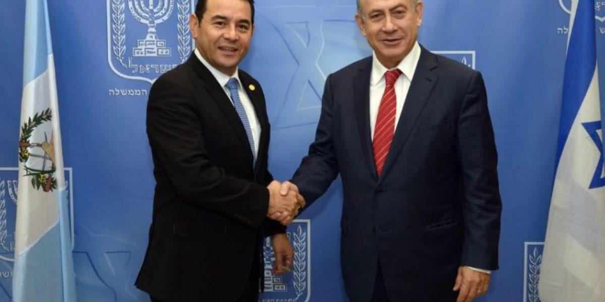 Netanyahu dice a Jimmy Morales que en toda ciudad israelí hay una
