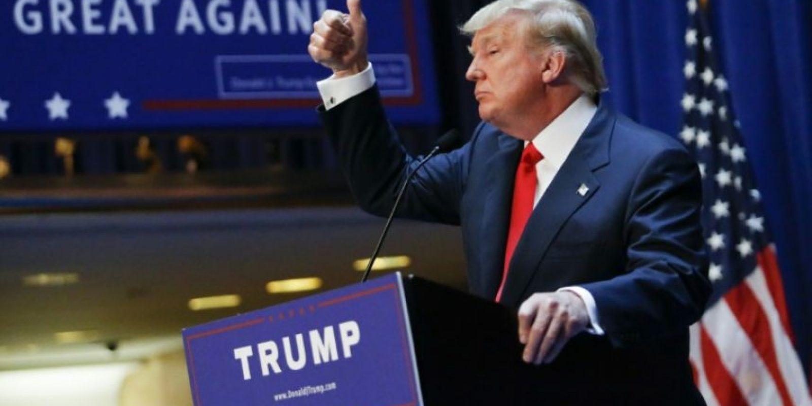 El magnate Donald Trump anuncia su candidatura a la presidencia de EEUU el 16 de junio de 2015 en Nueva York Foto:Kena Betancur/afp.com