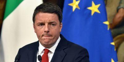 El primer ministro italiano, Matteo Renzi, en rueda de prensa en el Palacio Chigi de Roma, el 28 de noviembre de 2016 Foto:Andreas Solaro/afp.com
