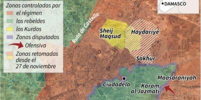 Localización de los barrios de Alepo perdidos por los rebeldes Foto:Valentina BRESCHI, Simon MALFATTO, Frédéric BOURGEAIS, Sophie RAMIS/afp.com