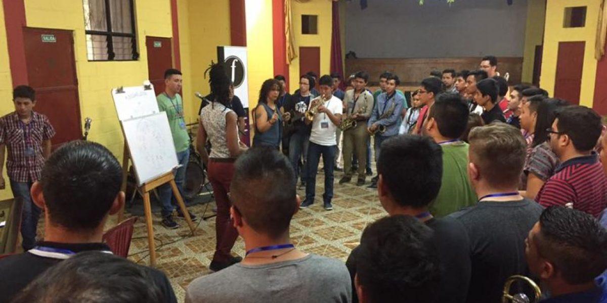Jóvenes guatemaltecos participan en el Campamento de jazz y ofrecerán un concierto gratuito