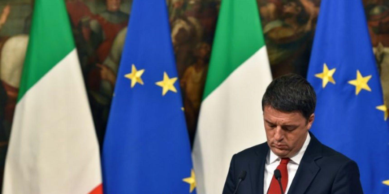 El primer ministro italiano, Matteo Renzi, en rueda de prensa en el Palazzo Chigi de Roma, el 28 de noviembre de 2016 Foto:Andreas Solaro/afp.com