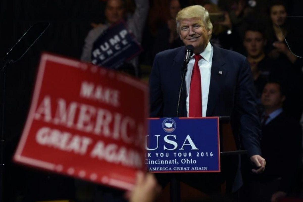 El presidente electo estadounidense, Donald Trump, en la minigira de agradecimiento por su victoria el 1 de diciembre de 2016, en Cincinnati, Ohio (EEUU) Foto:Timothy A. Clary/afp.com