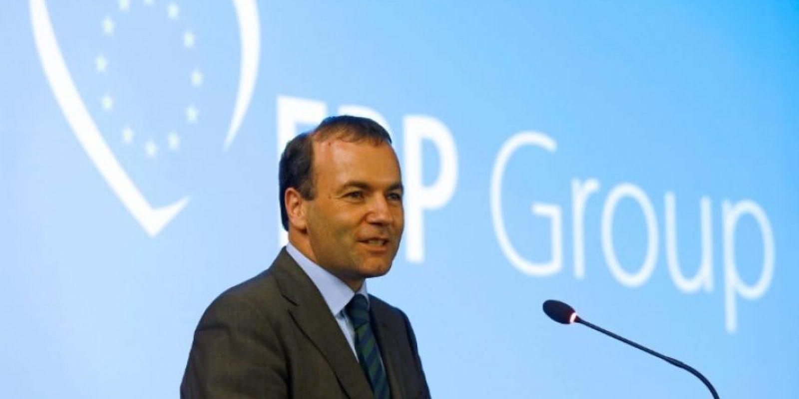 El líder del Partido Popular Europeo (PPE) en la Eurocámara, Manfred Weber, durante un mitin en Albufeira (Portugal), el 16 de junio de 2014 Foto:José Manuel Ribeiro/afp.com