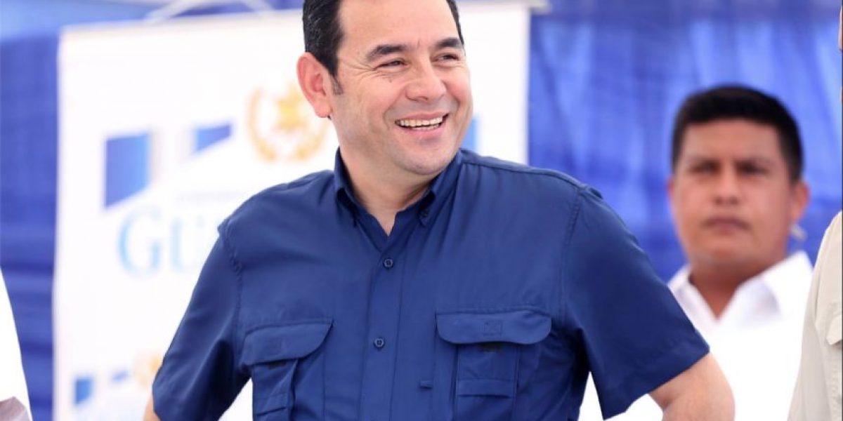 Presidente Jimmy Morales pide compartir fiestas navideñas de una manera responsable