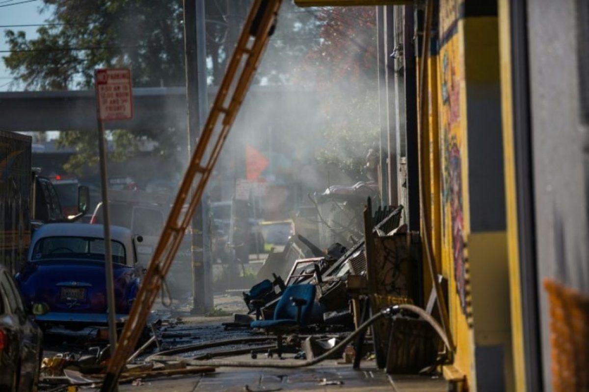 La bodega de Oakland (California, EEUU) donde se desató un incendio durante una fiesta, en una imagen del 3 de diciembre de 2016 Foto:Nick Otto/afp.com