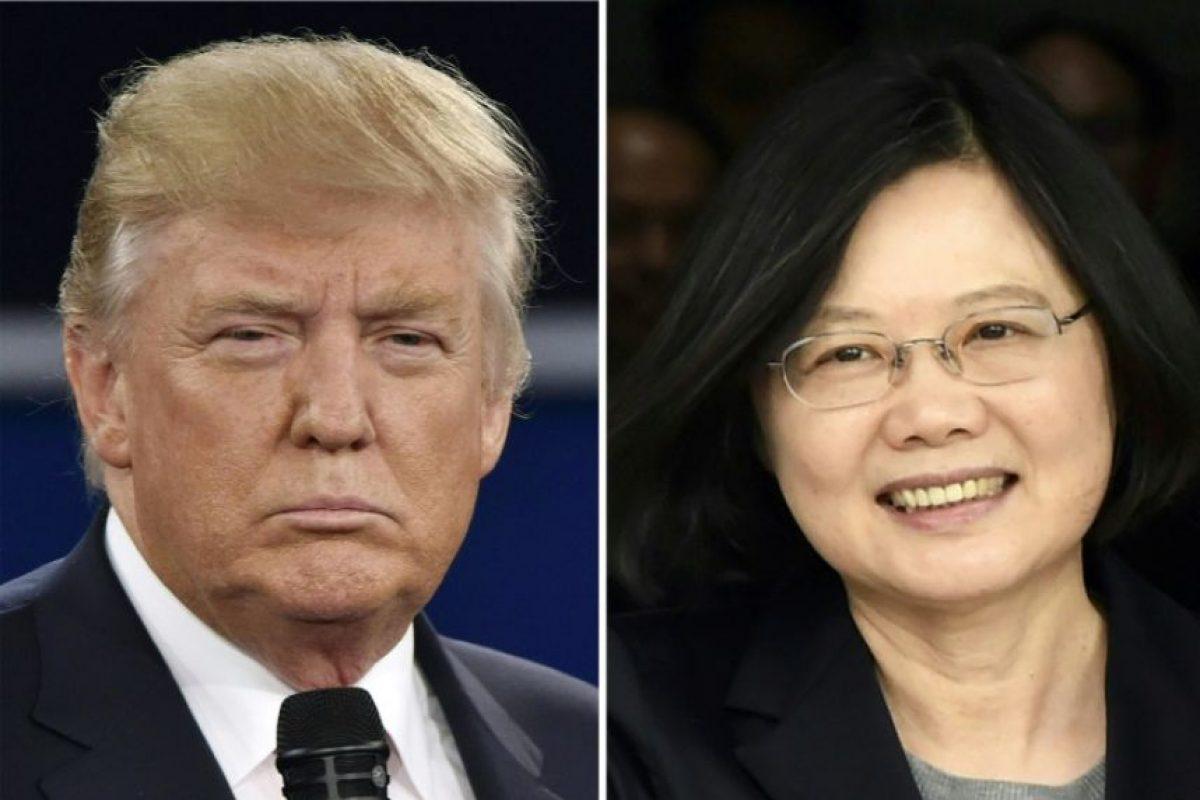 Una combinación de imágenes del presidente electo de EEUU, Donald Trump, y la presidenta de Taiwán, Tsai Ing-wen Foto:Staff/afp.com