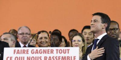 El primer ministro francés, Manuel Valls, durante el anuncio de su candidatura a la Presidencia de Francia el 5 de diciembre de 2016 Foto:Bertrand Guay/afp.com