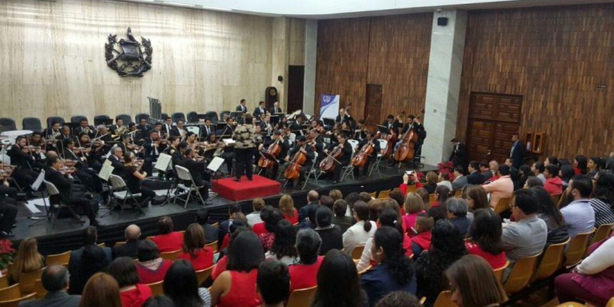 VIDEO. La Orquesta Sinfónica Nacional de Guatemala deleita a los magistrados, jueces y personal en la Corte Suprema de Justicia