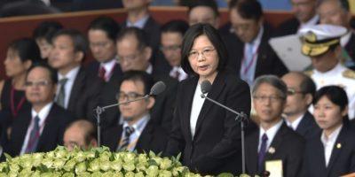 La presidenta de Taiwán, Tsai Ing-wen, habla durante las celebraciones del Día Nacional frente al Palacio Presidencial, en Taipei, el 10 de octubre de 2016. Foto:SAM YEH/afp.com