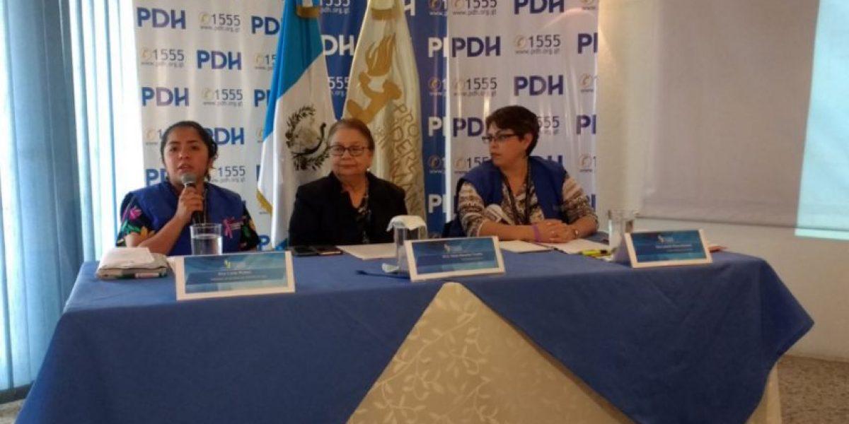 PDH hace llamado al Estado para prevenir, sancionar y erradicar la violencia contra la mujer