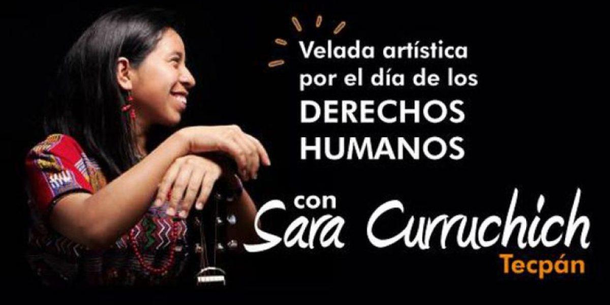 Sara Curruchich cantará por el Día de los Derechos Humanos