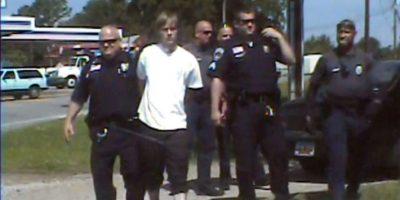 El momento del arresto de Dylann Roof el 18 de junio de 2016 en Shelby Foto:-/afp.com