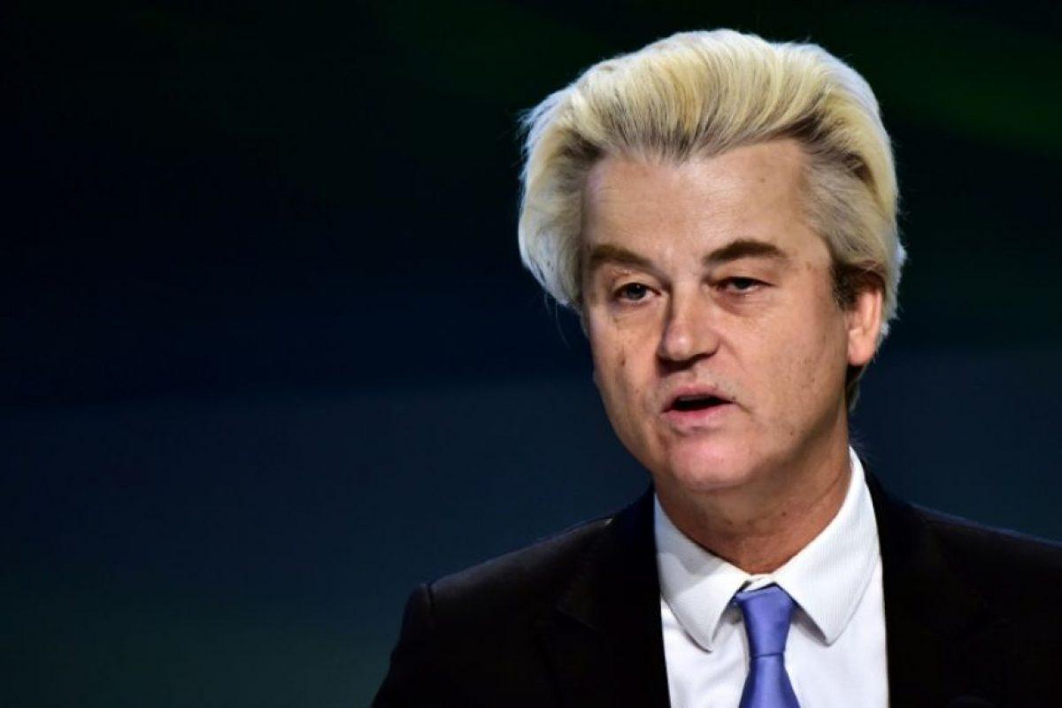 Geert Wilders habla durante una rueda de prensa el pasado 29 de enero en la ciudad italiana de Milán Foto:Giuseppe Cacace/afp.com