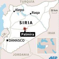 Localización de Palmira en Siria Foto:Kun TIAN, Jonathan JACOBSEN/afp.com