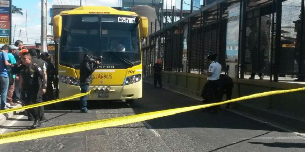 Capturan a dos personas por ataque en bus en la Aguilar Batres que dejó dos heridos
