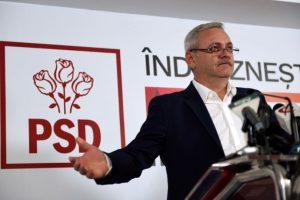 El líder del partido socialdemócrata, Liviu Dragnea, ofrece una conferencia de prensa luego del cierre de los colegios electorales en las legislativas rumanas, el 11 de diciembre de 2016 en Bucarest Foto:DANIEL MIHAILESCU/afp.com