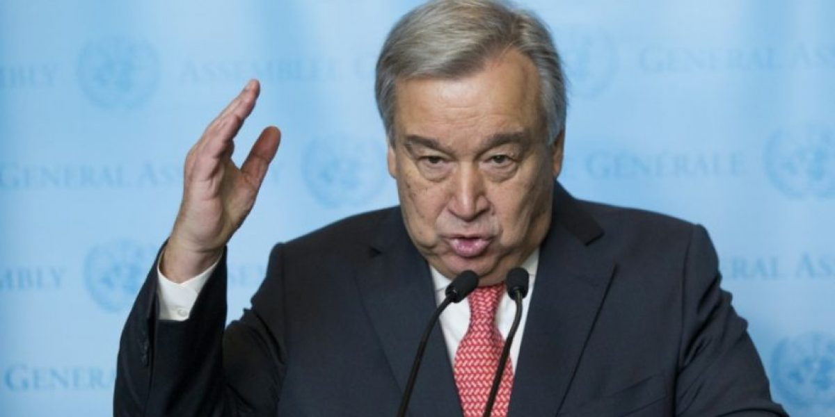 Secretario general Antonio Guterres: