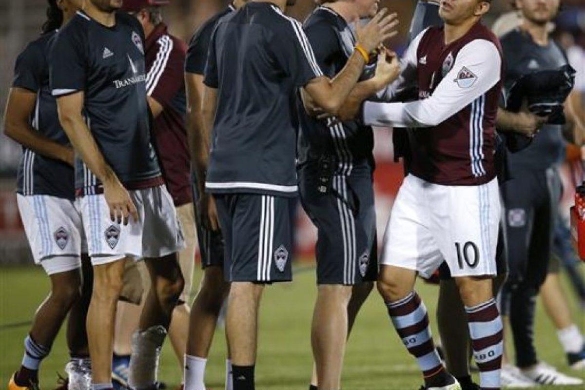 El futbolista guatemalteco no tuvo su mejor desempeño con el club de Colorado en la temporada de 2016. Foto:Publisport