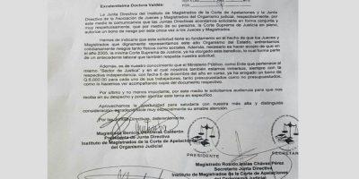 """La petición del bono de """"riesgo"""" para los jueces. Foto:Cortesía"""