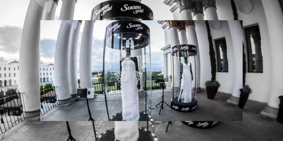 ¡Impresionante! Diseñadores guatemaltecos confeccionan vestidos con papel higiénico