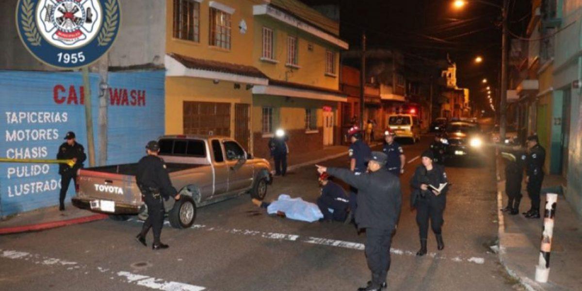 Hombre es asesinado a balazos en la zona 5 y PNC captura al presunto responsable