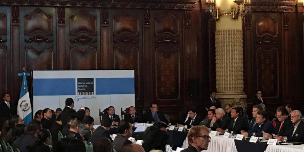 Exponen resultados de compromisos del Plan de Gobierno Abierto en mesa técnica de alto nivel
