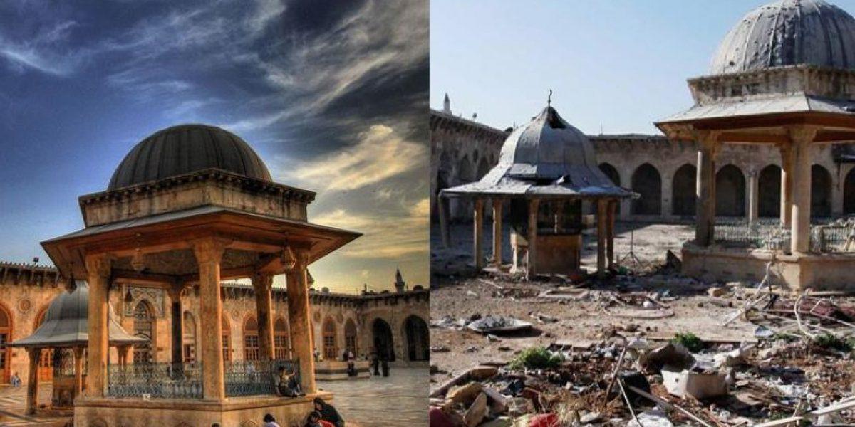 50 impactantes imágenes que muestran el antes y después de la guerra en Alepo