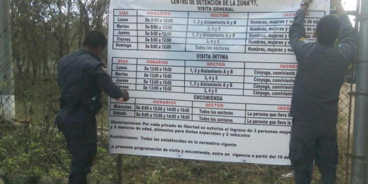 Presidios decreta nuevos horarios para las visitas en la cárcel VIP Mariscal Zavala