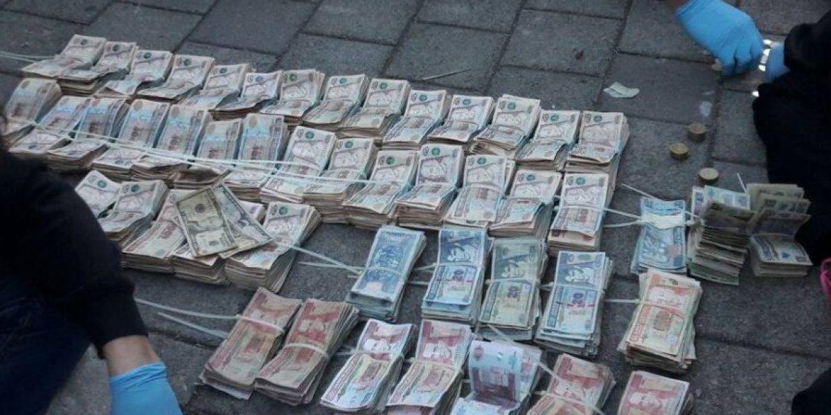 La cantidad de dinero que llevaba víctima de la banda de secuestradores capturada ayer