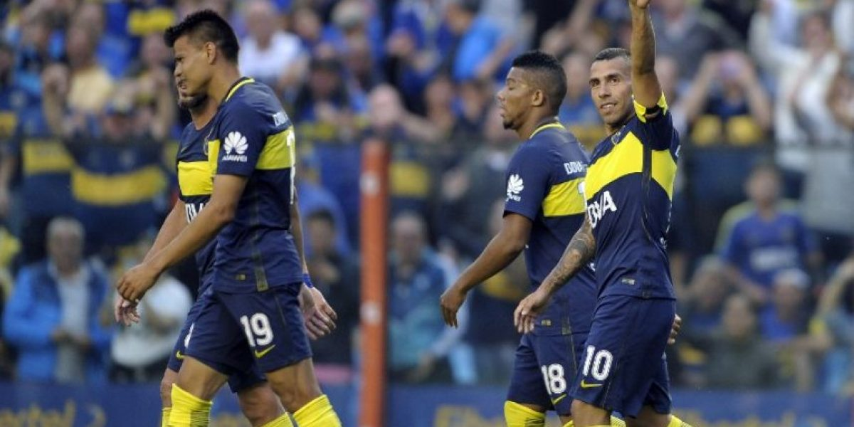 Boca Juniors golea en la probable despedida de Tevez