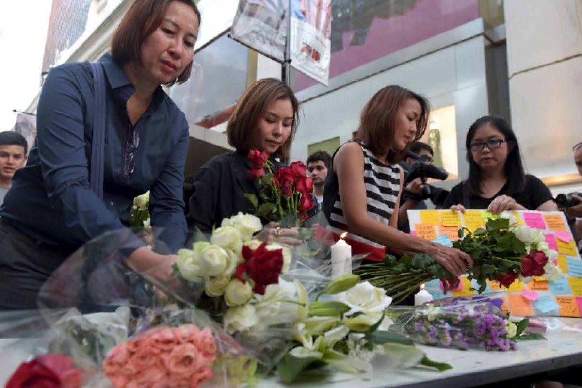 El 17 de agosto una explosión en Bangkok dejó a más de 10 muertos y 120 heridos. Foto:AFP