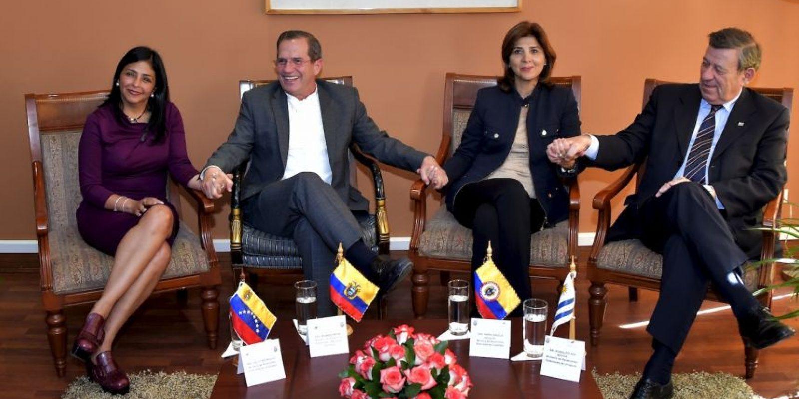 Por otro lado, el conflicto con Colombia sube de intensidad. Foto:AFP