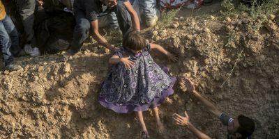 Más de 300 mil personas han arriesgado su vida en el Mediterráneo este año, según la Agencia de la ONU para los Refugiados. Foto:AFP