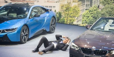 Harald Krueger, CEO de BMW colapsa en plena presentación en Alemania. Foto:AFP