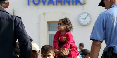 Cientos de migrantes llegaron desde el miércoles en la madrugada. Foto:AFP